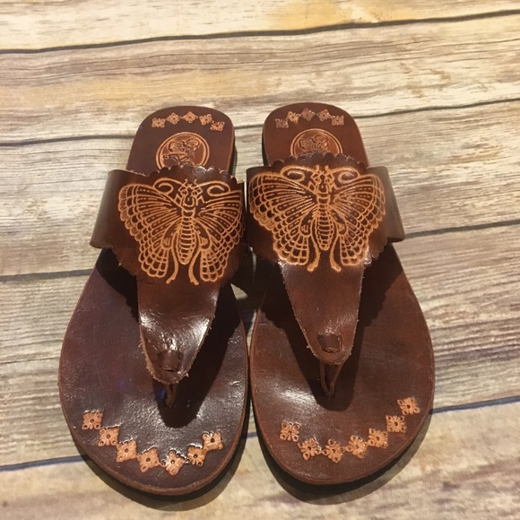 1d0f3e306a0a7 Leather butterfly sandals - purchased in Thailand.  M 5b3d74b5951996f8abe7ac21